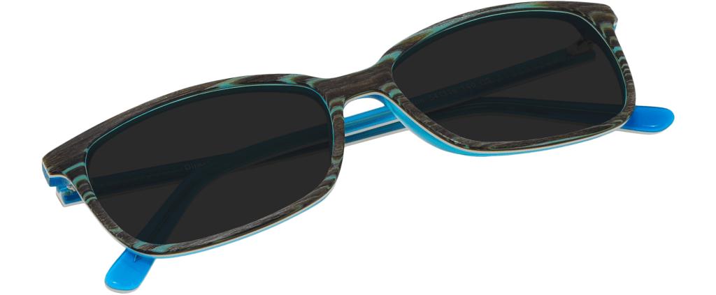 5c57332b45 ... lunettes de soleil avec ou sans verres correcteurs Jamie K. Preston Sun Bleu  Effet Bois ...