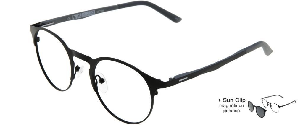 b8285f37bf ... lunettes de vue PlastiFlex Clip-On Premium Noir Mat PlastiFlex