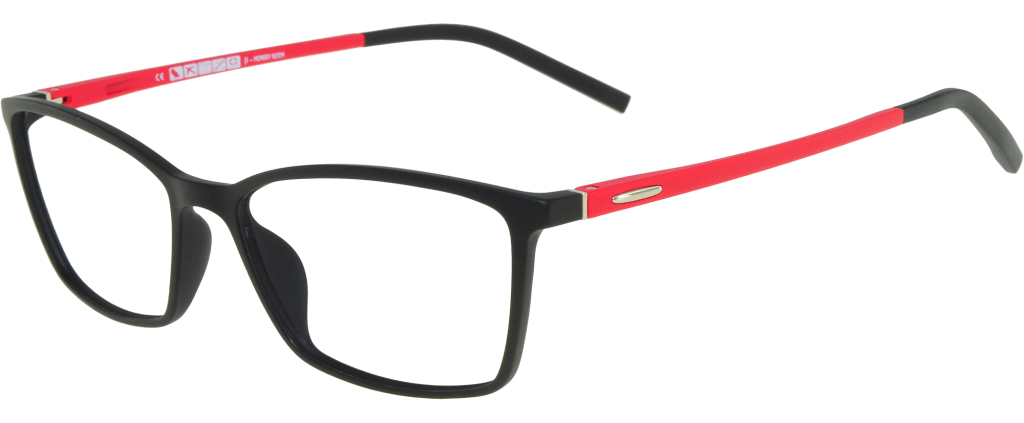 c6a09cc2511 lunettes de vue Relax Noir Et Rouge ...