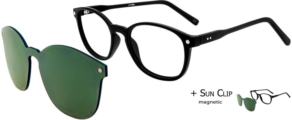 903c3bb0df lunettes de vue PlastiFlex Clip-On Perfect Noir Mat ...
