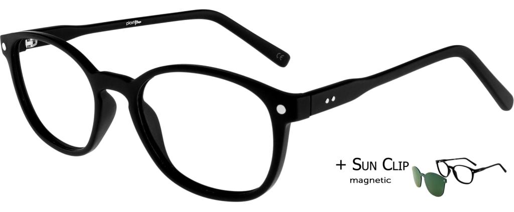 73c9c09145 ... lunettes de vue PlastiFlex Clip-On Perfect Noir Mat PlastiFlex