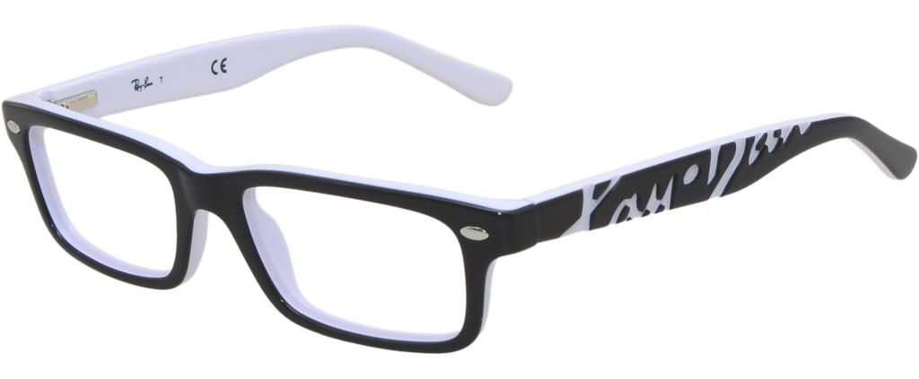 f252c45ecd lunettes de vue Ray-Ban 1535 3579 Noir Et Blanc ...