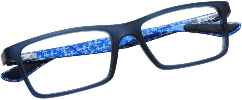 bc7710d27e ... lunettes de vue Ray-Ban 8901 5262 Noir Et Bleu ...