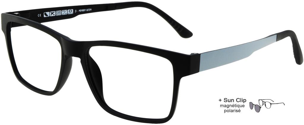 f7d6996535 ... lunettes de vue PlastiFlex Clip-On Must Noir Mat PlastiFlex