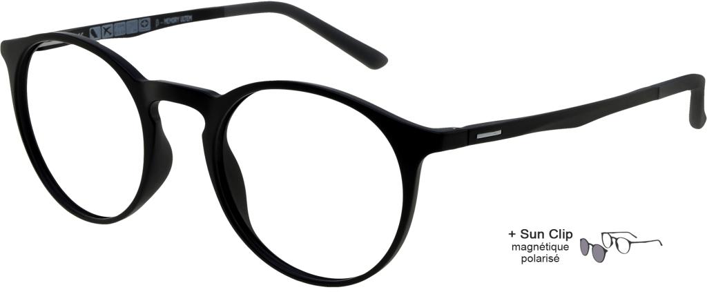 c304fff6ef ... lunettes de vue PlastiFlex Clip-On Best Noir Mat PlastiFlex