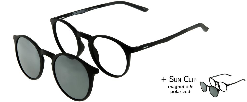 876bffe79c lunettes de vue PlastiFlex Clip-On Best Noir Mat ...
