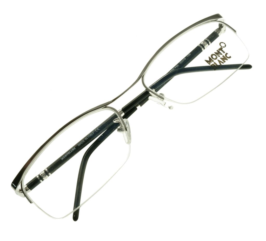 68b6521b27 ... gafas graduadas Mont Blanc MR123 Plateado ...