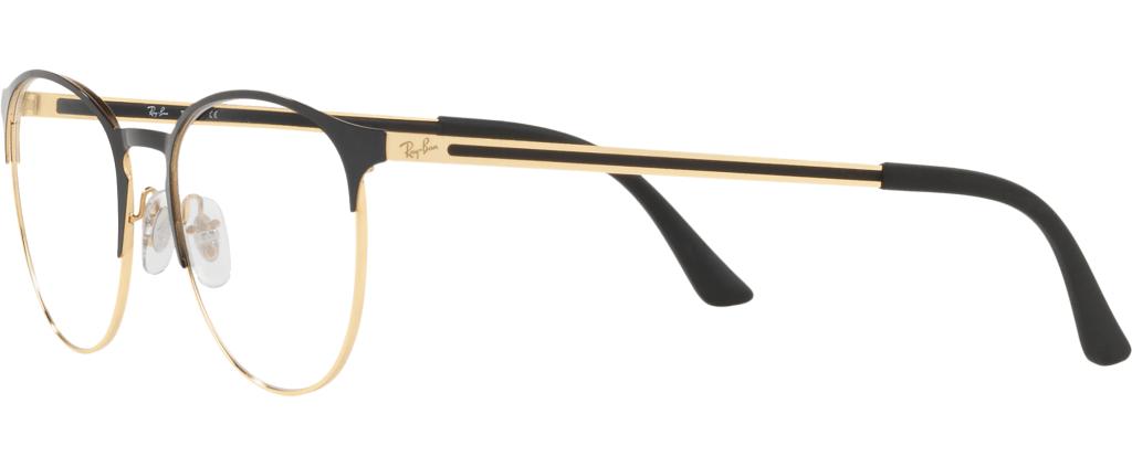 ef08ca5f95b ... lunettes de vue Ray-Ban 6375 2890 Noir Et Doré ...