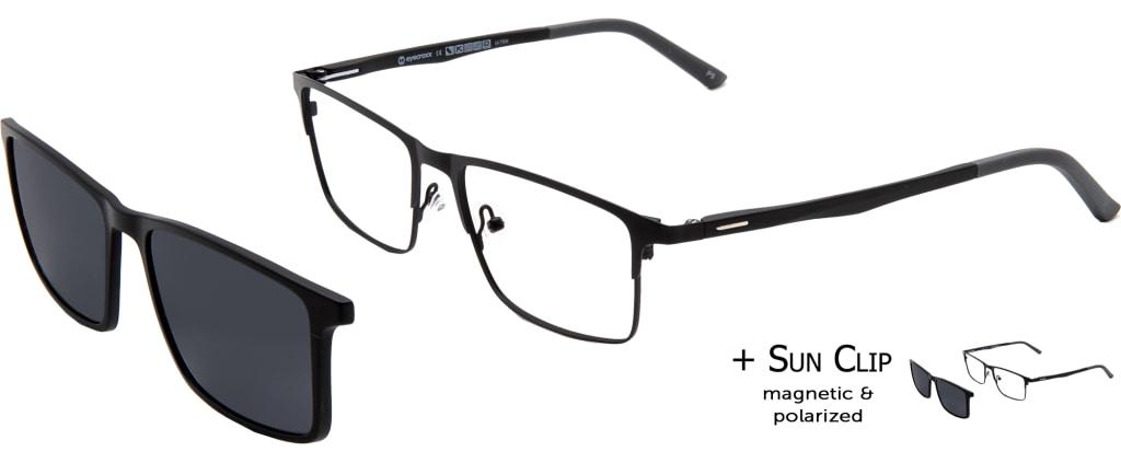 2fd027fa83 lunettes de vue PlastiFlex Clip-On Cool Noir Mat ...