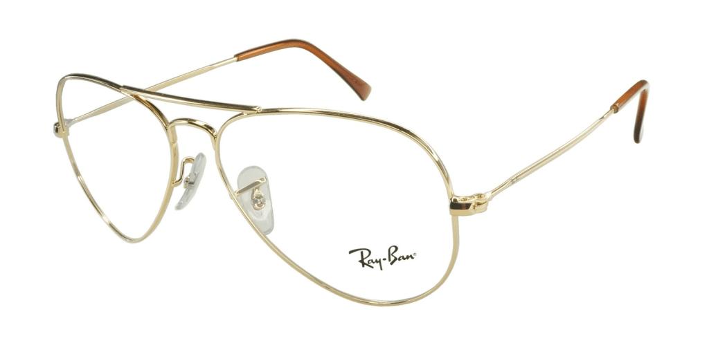 2a25fd807e5b5 lunettes de vue Ray-Ban Aviator 6049 2500 Doré ...