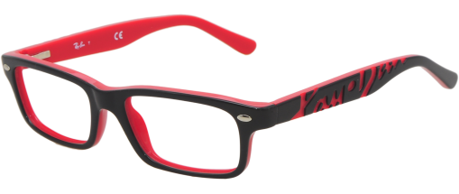 monture ray ban femme rouge