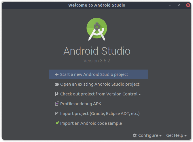 Android Studio Startup