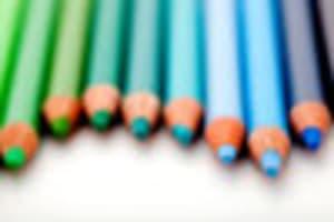 寒色系の色鉛筆