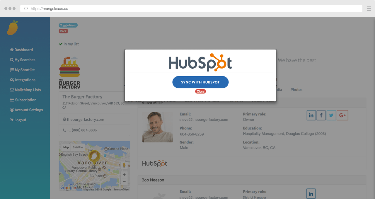 Sync with hubspot new 3