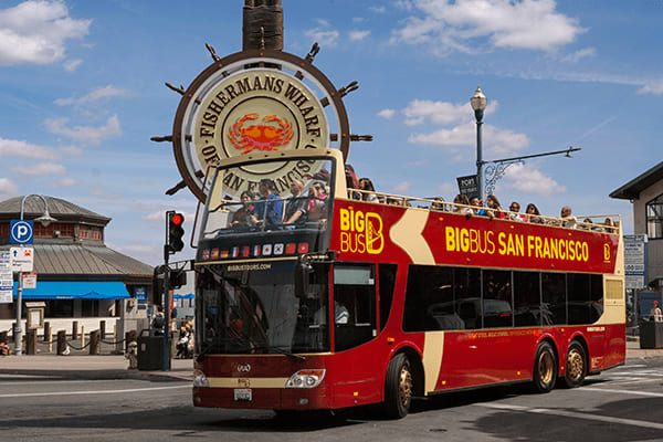 2 Day Hop-On/Hop-Off Deluxe Big Bus + City at Night + Sausalito Loop