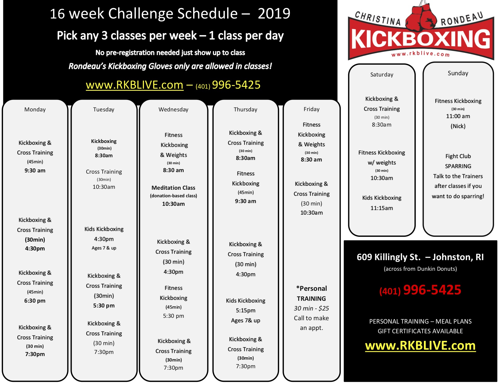 Fitsmart 16 week challenge meal plan