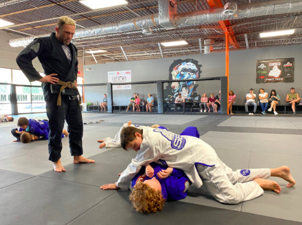 Damien Mann training Jiu Jitsu at SBG's Buford Gym