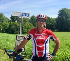 Martin Couët in Ottawa - Team Triumph Triathlon Club