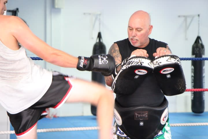 Mark ' DUKE'  Laidley in O'Connor - Westside Kickboxing
