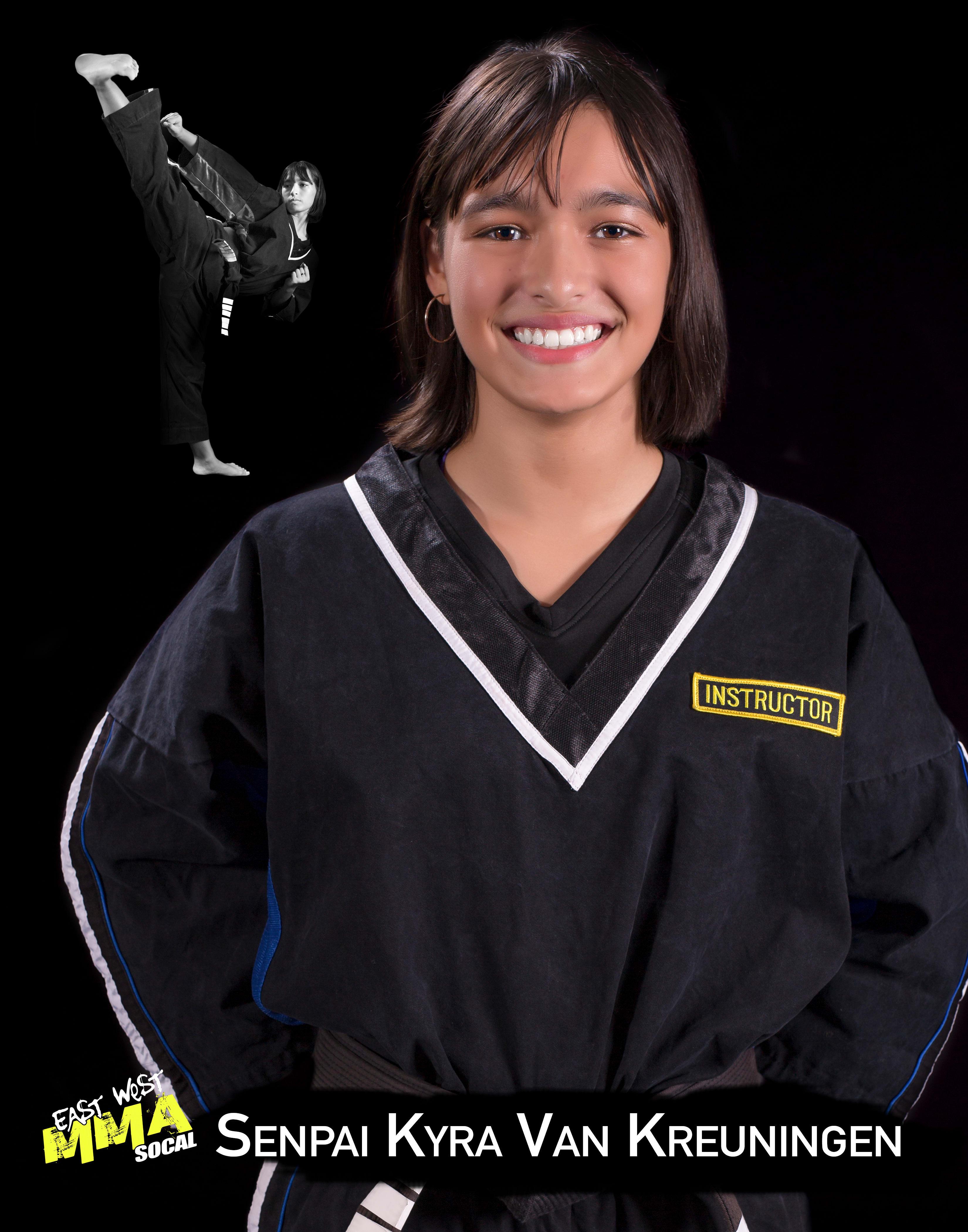 Senpai Kyra in Escondido - East West MMA SoCal