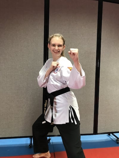 Junior Sensei Elena Dibbs in Clearwater - TOP Martial Arts