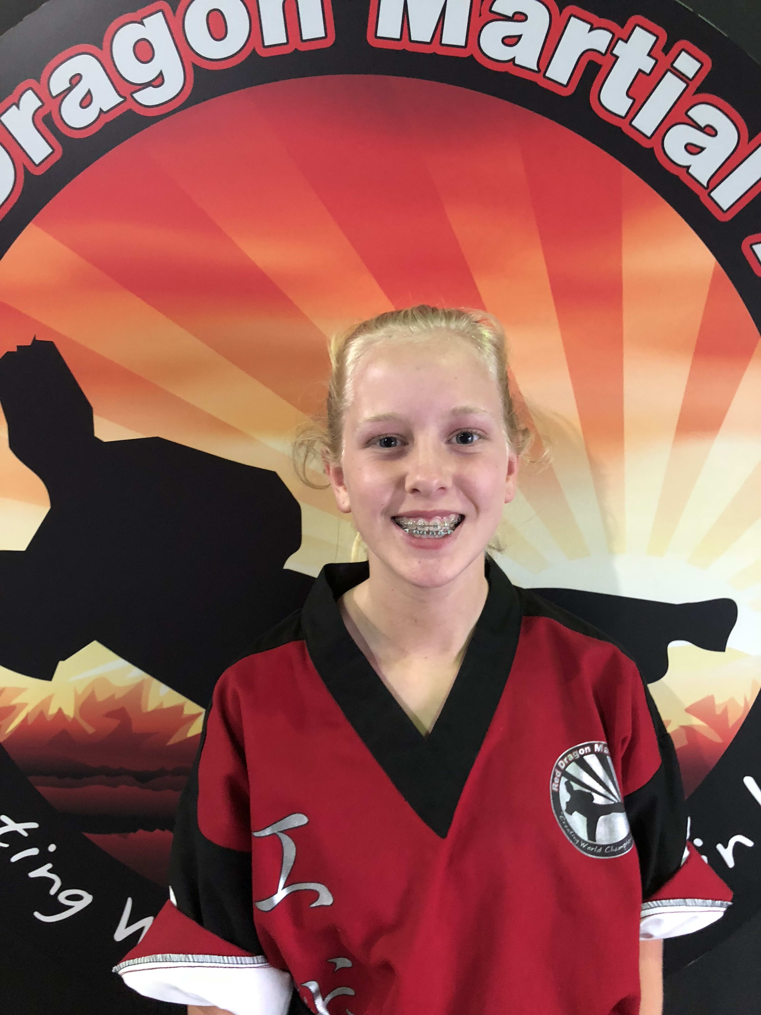 Hayley Farmer in Caboolture - Red Dragon Martial Arts