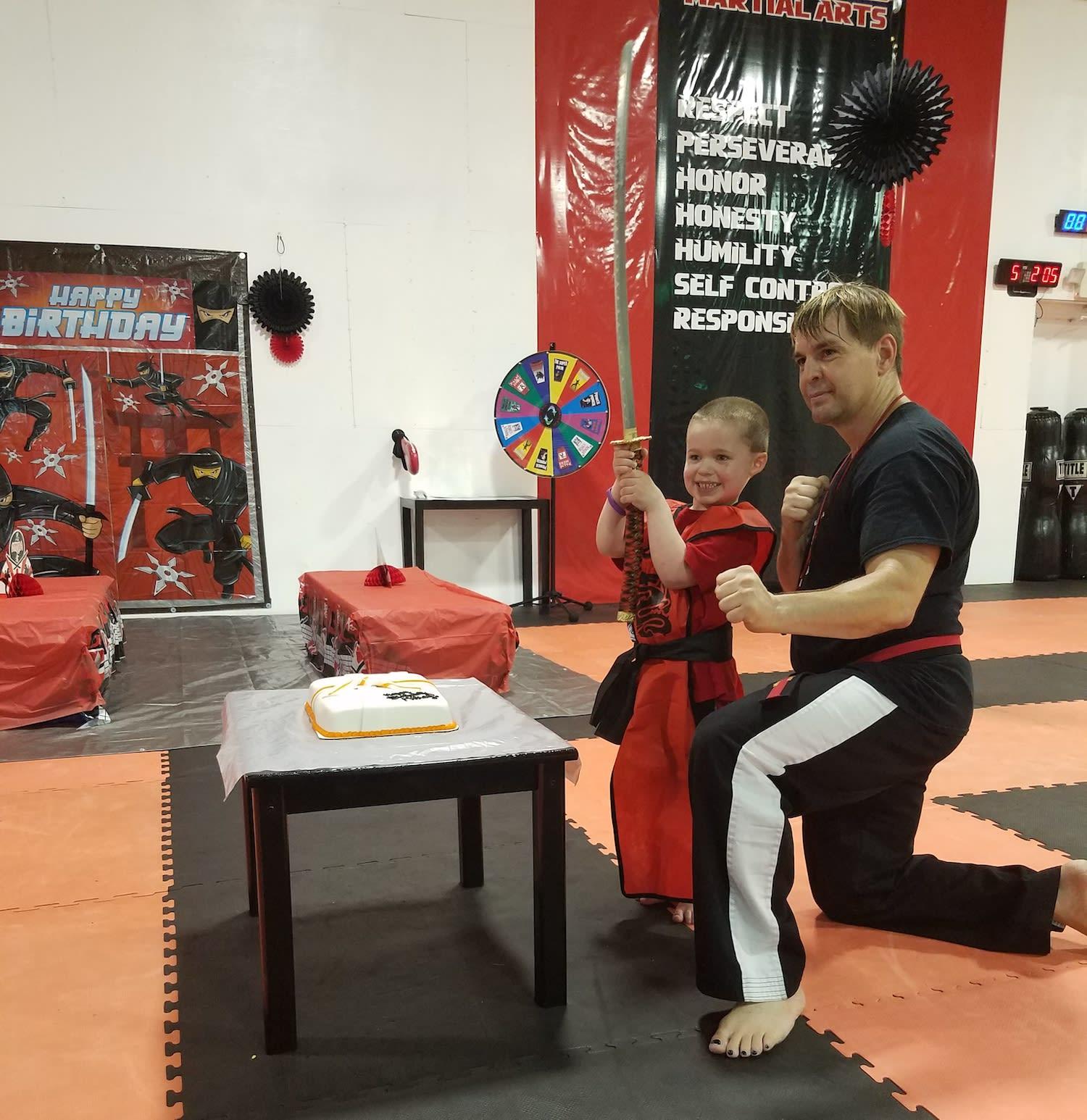Kids Martial Arts birthday parties near Marlborough