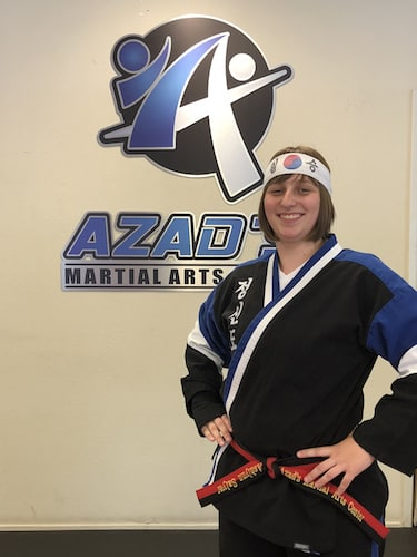 Ms. Salyer in Chico - Azad's Martial Arts Center
