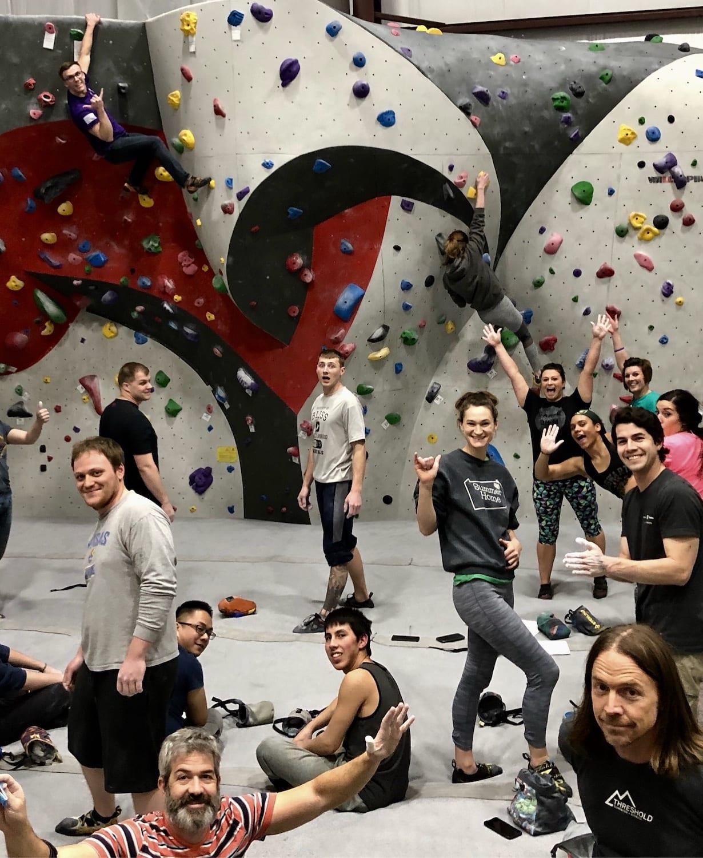 adult rock climbing