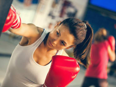 Fitness Kickboxing in Shackelford's MMA Center