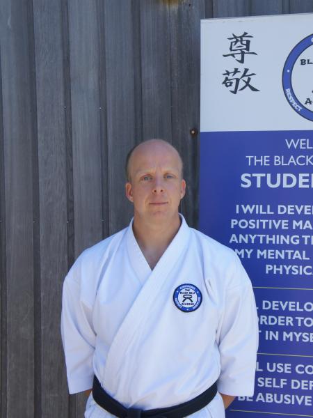 Sensei Simon Bushby in Verwood - The Black Belt Academy