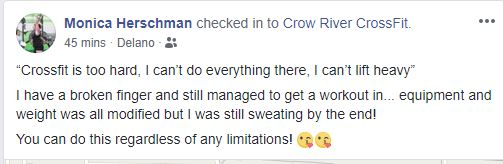 CrossFit is for Everyone!, Crow River CrossFit testimonialS