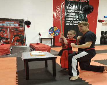 Kids Martial Arts birthday parties near Marlborough