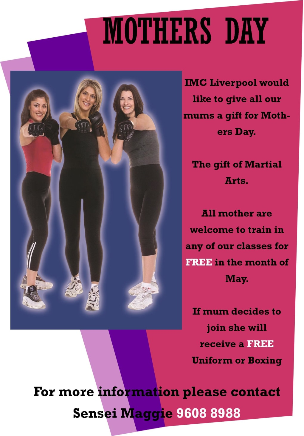 Kids Karate in Prestons and Liverpool - IMC Liverpool - Mothers Day Promo