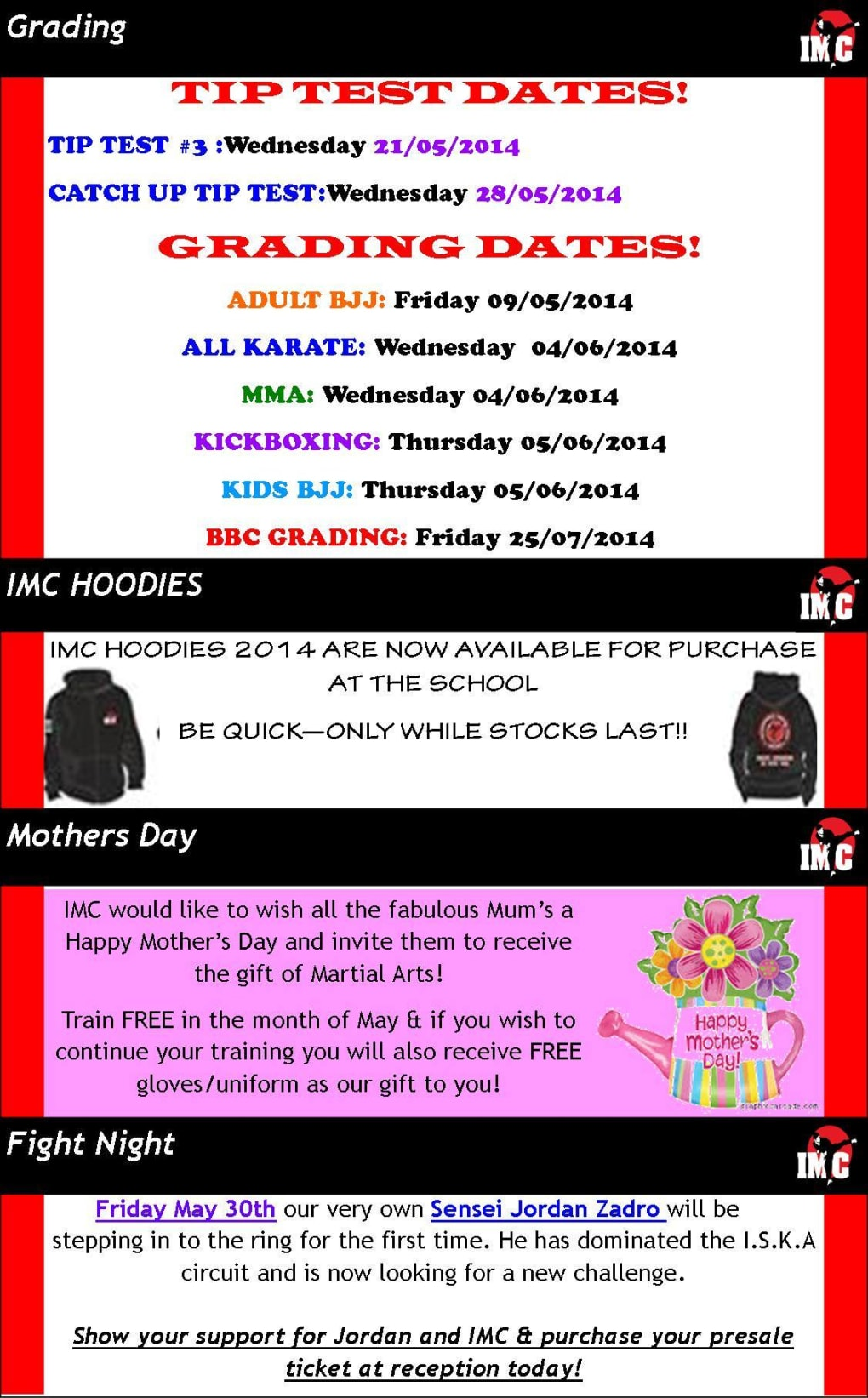 Kids Karate in Prestons and Liverpool - IMC Liverpool - May Nesletter
