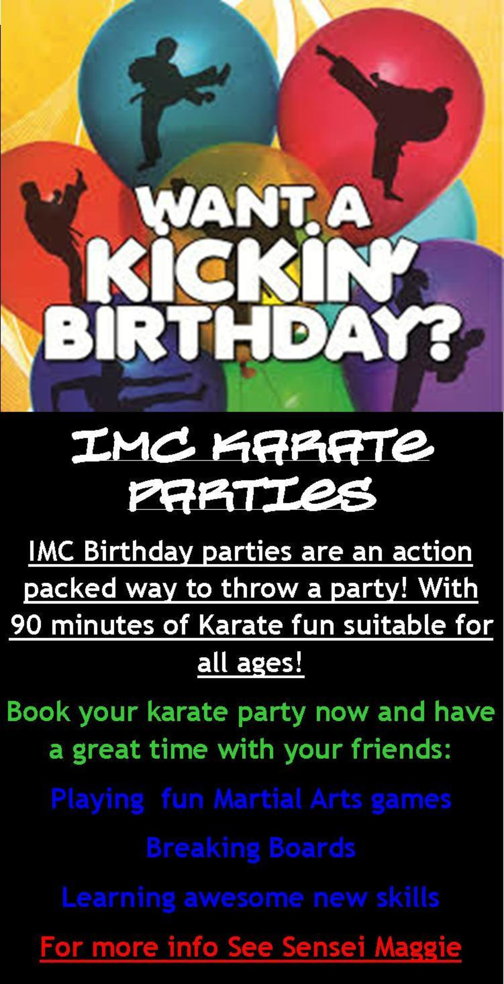 Kids Karate in Prestons and Liverpool - IMC Liverpool - Karate Birthday Parties