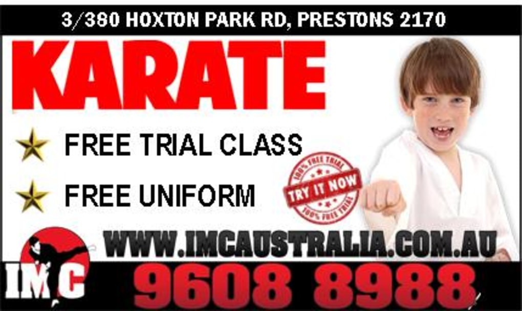 Kids Karate in Prestons and Liverpool - IMC Liverpool - Enrolling Now