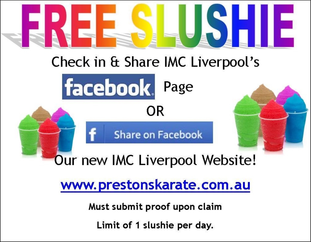 Kids Karate in Prestons and Liverpool - IMC Liverpool - FREE Slushies