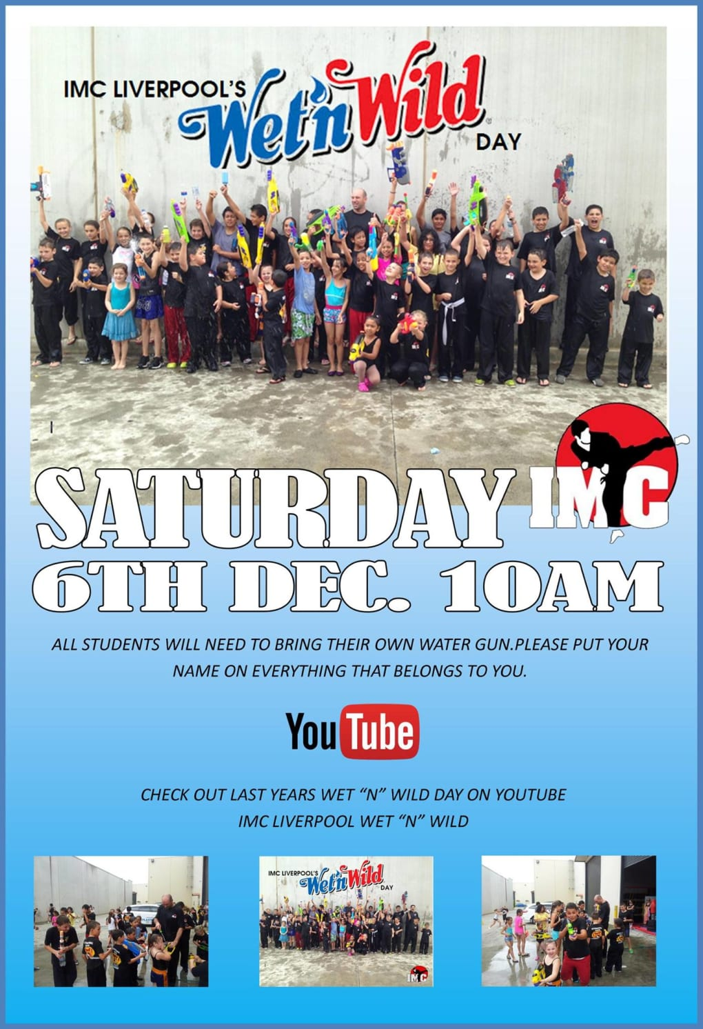 Kids Karate in Prestons and Liverpool - IMC Liverpool - IMC Wet n Wild Day