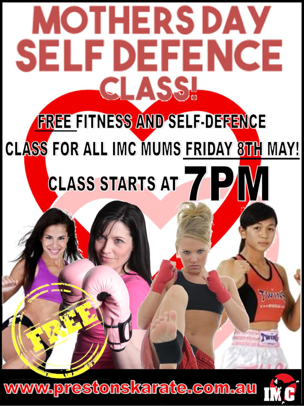 Kids Karate in Prestons and Liverpool - IMC Liverpool - Mothers Day FREE Self Defence day