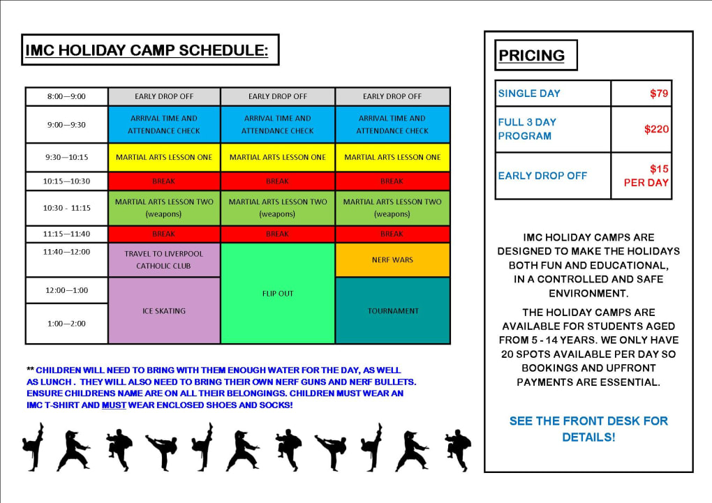 Kids Karate in Prestons and Liverpool - IMC Liverpool - School Holiday Camp
