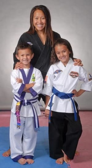 students in kids tae kwon do  in Loveland - Tran's Martial Arts & Fitness - Loveland