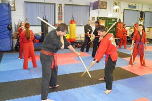 students in adult karate in Prestons and Liverpool - IMC Liverpool