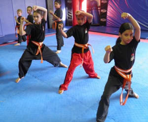 students in kids karate in Prestons and Liverpool - IMC Liverpool
