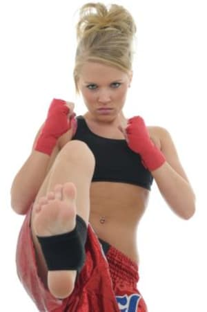 students in fitness kickboxing  in Philadelphia - Amerikick Martial Arts Northeast Philly