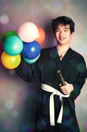 students in martial art birthday parties  in Houston - Meyerland Martial Art Center