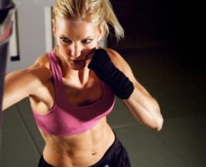 students in kickboxing fitness  in Lake Forest - The 1-2 Punch Martial Arts