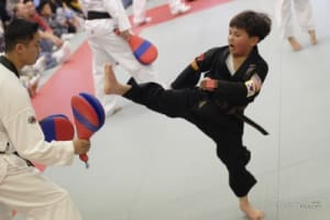 students in kids karate  in San Bruno - Lawler's Tae Kwon Do