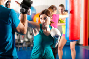 students in womens fitness and yoga  in Bronx - Excel Martial Arts