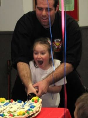 students in birthday parties  in Wilmington - American Karate Studios
